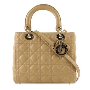 Christian Dior Medium Lady Dior Cannage 2way Bag